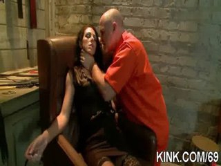 Hawt pretty babe dominated, bound and fucked