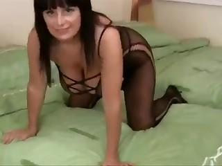 Mom in lingerie