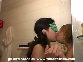 Italian Pregnant girl non-professional Lesbo