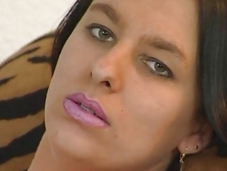German girl masturbates
