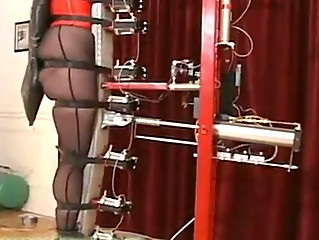 Slave testing the recent torture machine!