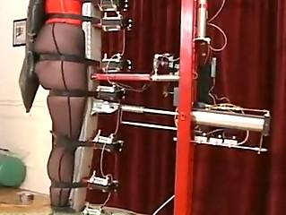 Slave testing the recent torture machine!