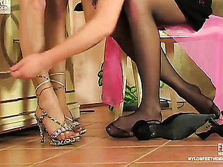 Mia&Irene amazing nylon feet movie