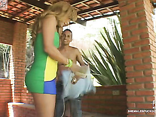 Paty&Diego t-girl bonks fellow act