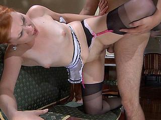 ChloeB&Ed sexy nylon clip scene