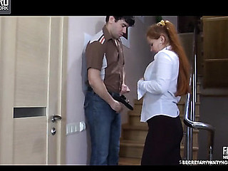 Megan&Jack office hose sex act
