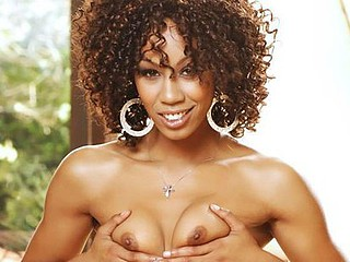 Cocoa skinned Misty Stone may not have big meatballs, but her cookie is always wet and taut as hell! The white boyz love filling up her black chocolate snatch with their sticky ball batter as they dump their cream inside her sexy pink sit!
