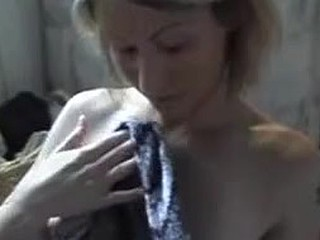 My pretty blonde wife knows how to squeeze pleasure out of my throbbing cock. Vigorously sliding her hand up and down its pulsating shaft, that babe makes me bombard her with a sexy facial cumshot.
