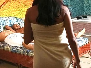 Brazilian mami gets her juicy poon stretched after a shower