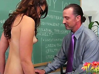 Innocent girl Ashley Storm got seduced by her college professor Tony DeSergio and she likes this adventure