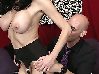 Brunette with biggest tits Veronica Avluv enjoys having excited male Johnny Sins to deep bang her