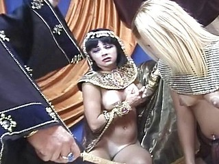 Pharaoh has some enjoyment trying out the new girl in his harem