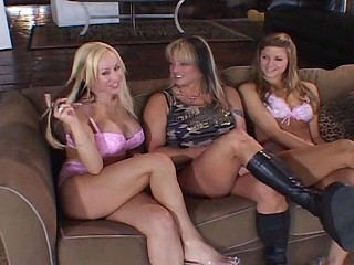 Three hot MILF babes take a walk on the lesbian side and toy pussies
