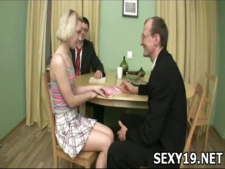Sex-starved nice-looking cutie moans