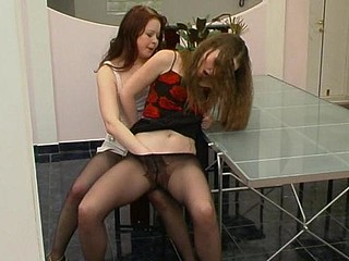 Fidelia&Nellie kinky hose movie scene