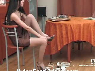 Judith&Christopher hot nylon feet act
